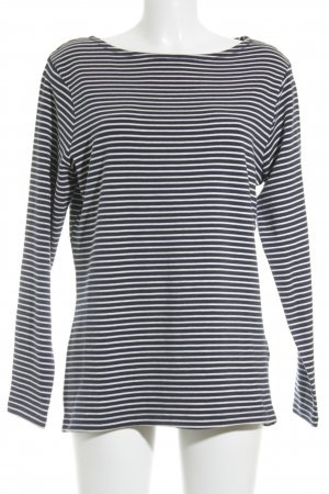 Street One Longshirt dunkelblau-weiß Streifenmuster Casual-Look