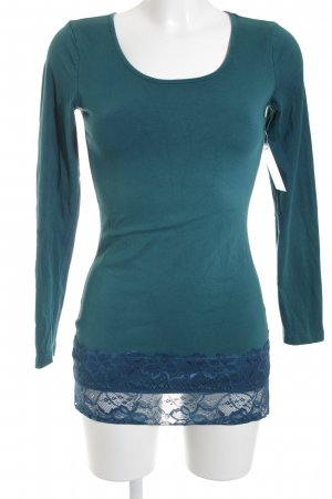 Street One Longshirt dunkelgrün-dunkelblau Casual-Look