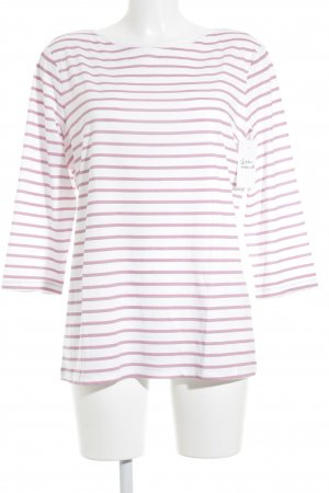Street One Longshirt rosa-weiß Streifenmuster Casual-Look