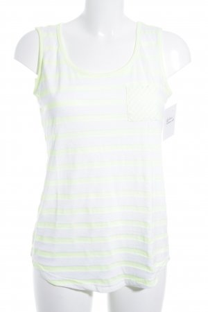 Street One Long Top neon yellow-white striped pattern casual look