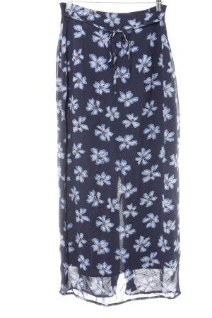 Street One Maxi gonna nero-azzurro motivo floreale stile casual