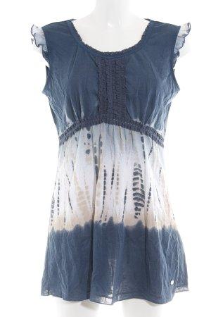 Street One Minikleid blau-weiß Farbverlauf Casual-Look