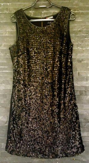 Street One Pailletten-Kleid schwarz Größe 40