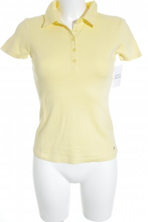 Street One Camiseta tipo polo amarillo pálido look casual