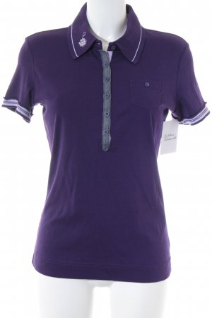 Street One Polo-Shirt lila Casual-Look