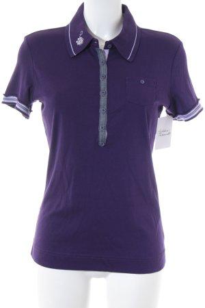 Street One Polo-Shirt lila Casual-Look