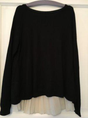 Street One Pullover Bluse schwarz beige Gr. 38