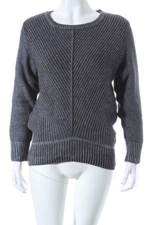 Street One Pullover dunkelgrau-silberfarben Casual-Look