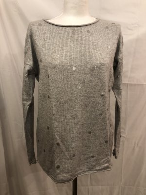 Street One Wool Sweater silver-colored-light grey