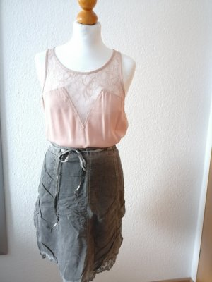 Street One Lace Skirt grey-dark grey