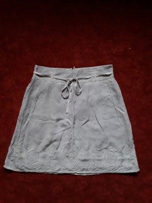 Street One Falda de encaje gris claro