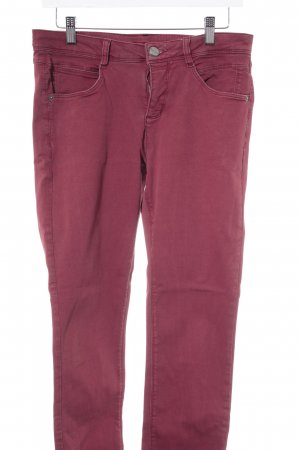 Street One Drainpipe Trousers dark red casual look