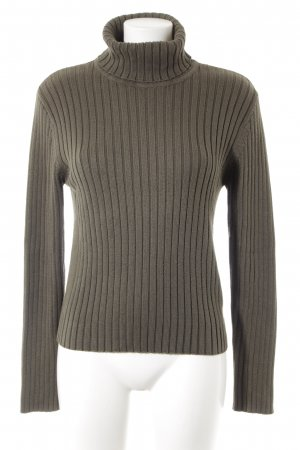 Street One Turtleneck Sweater olive green casual look