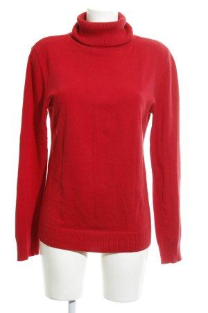 Street One Jersey de cuello alto rojo look casual