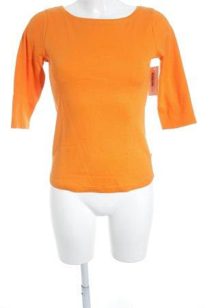 Street One Rundhalspullover orange schlichter Stil