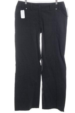 Street One Pantalone a zampa d'elefante nero stile casual