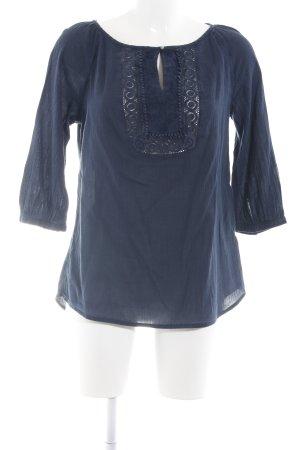 Street One Schlupf-Bluse blau Casual-Look