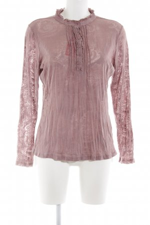 Street One Schlupf-Bluse pink grafisches Muster Casual-Look