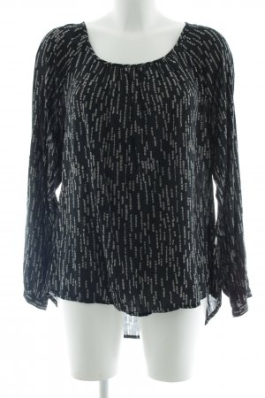 Street One Slip-over Blouse black-beige abstract pattern casual look