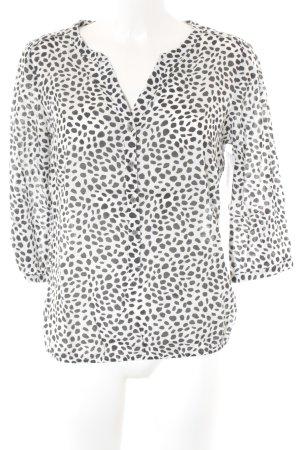 Street One Schlupf-Bluse schwarz-weiß Punktemuster Casual-Look