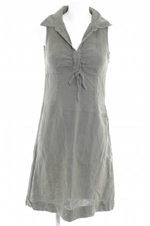 Street One Off-The-Shoulder Dress green grey casual look