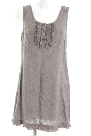 Street One schulterfreies Kleid silberfarben meliert Casual-Look