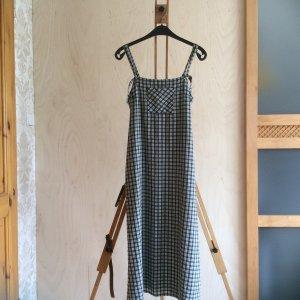 Street One, schwarz/weiß kariertes Träger Sommerkleid