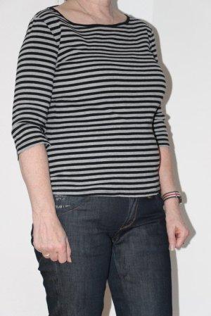 Street One Stripe Shirt black-light grey cotton