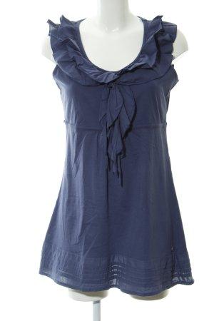 Street One T-shirt jurk blauw casual uitstraling