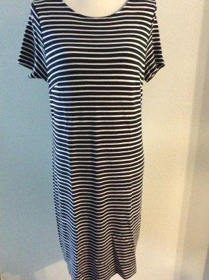 Street One T-shirt jurk wit-donkerblauw Gemengd weefsel