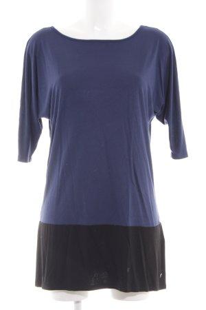 Street One Shirtkleid blau-schwarz Streifenmuster Casual-Look