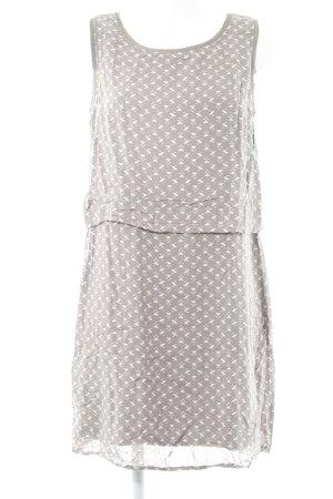 Street One Shirtkleid graubraun-hellbeige grafisches Muster Casual-Look