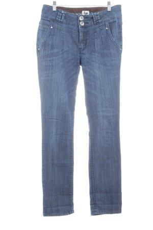 Street One Skinny Jeans blau Washed-Optik