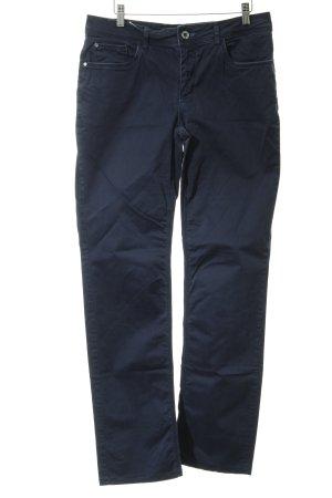 Street One Slim Jeans blau Used-Optik