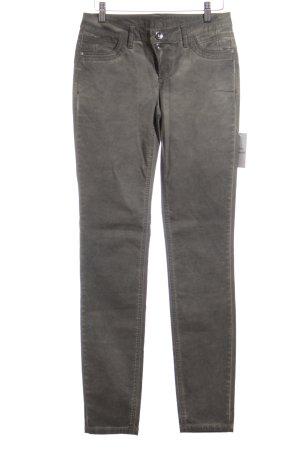 Street One Slim Jeans grau-graugrün schlichter Stil