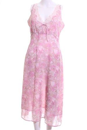 Street One Spitzenkleid pink-braun grafisches Muster Casual-Look