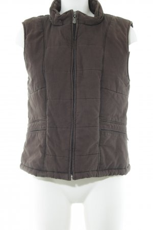 Street One Quilted Gilet brown quilting pattern casual look