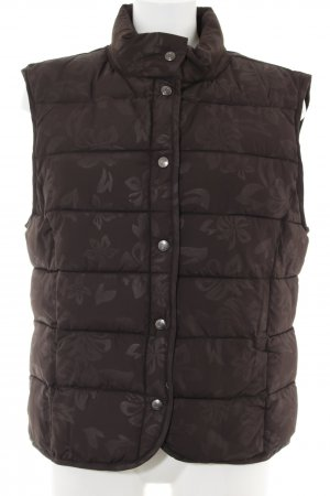 Street One Quilted Gilet brown flower pattern casual look