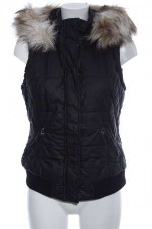 Street One Quilted Gilet black quilting pattern casual look