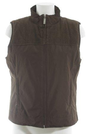 Street One Gewatteerd vest donkerbruin-bruin casual uitstraling