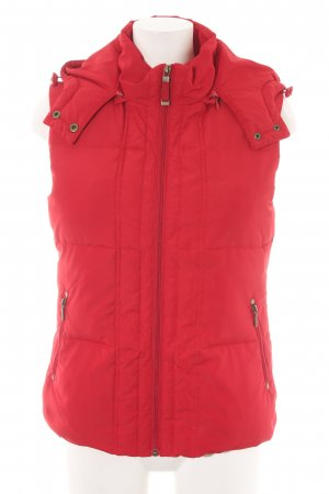 Street One Quilted Gilet dark red casual look