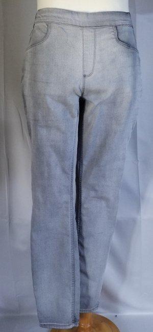 Street One,Stile York,Schlupfhose,Jeans,Gummizug,grau-used look,Gr. 34/30