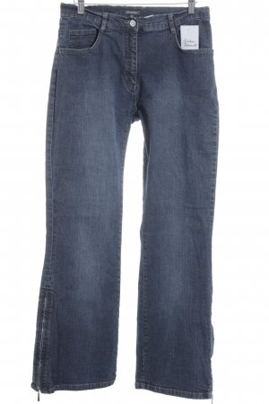 Street One Straight-Leg Jeans dunkelblau Street-Fashion-Look