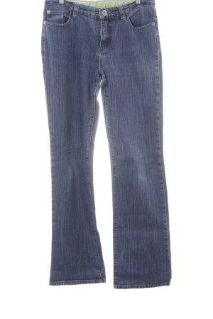 Street One Straight-Leg Jeans dunkelblau Washed-Optik