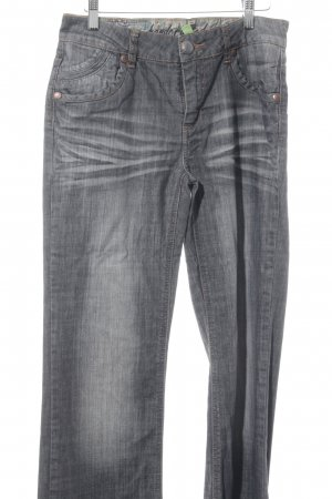 Street One Straight-Leg Jeans dunkelgrau Casual-Look