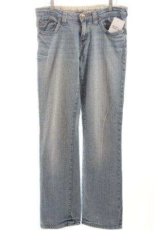 Street One Straight-Leg Jeans kornblumenblau-wollweiß meliert Casual-Look
