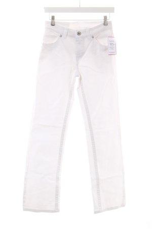 Street One Straight-Leg Jeans weiß Logostickerei