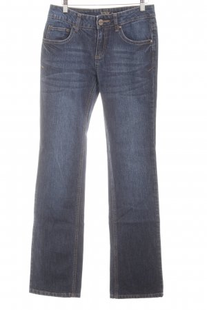 Street One Stretch Jeans dunkelblau Metallelemente
