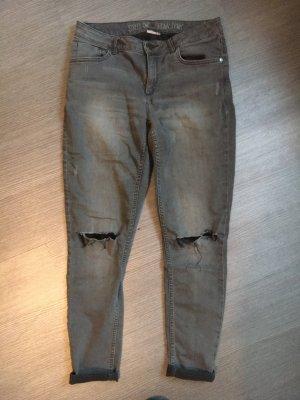 Street One Stretch Jeans grau destroyed