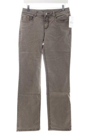 Street One Stretch Jeans graubraun Washed-Optik